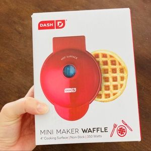 Dash red mini waffle maker new in box keto